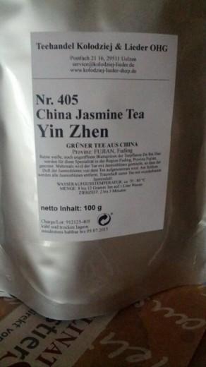 Etikett des Yin Zhen Jasmin